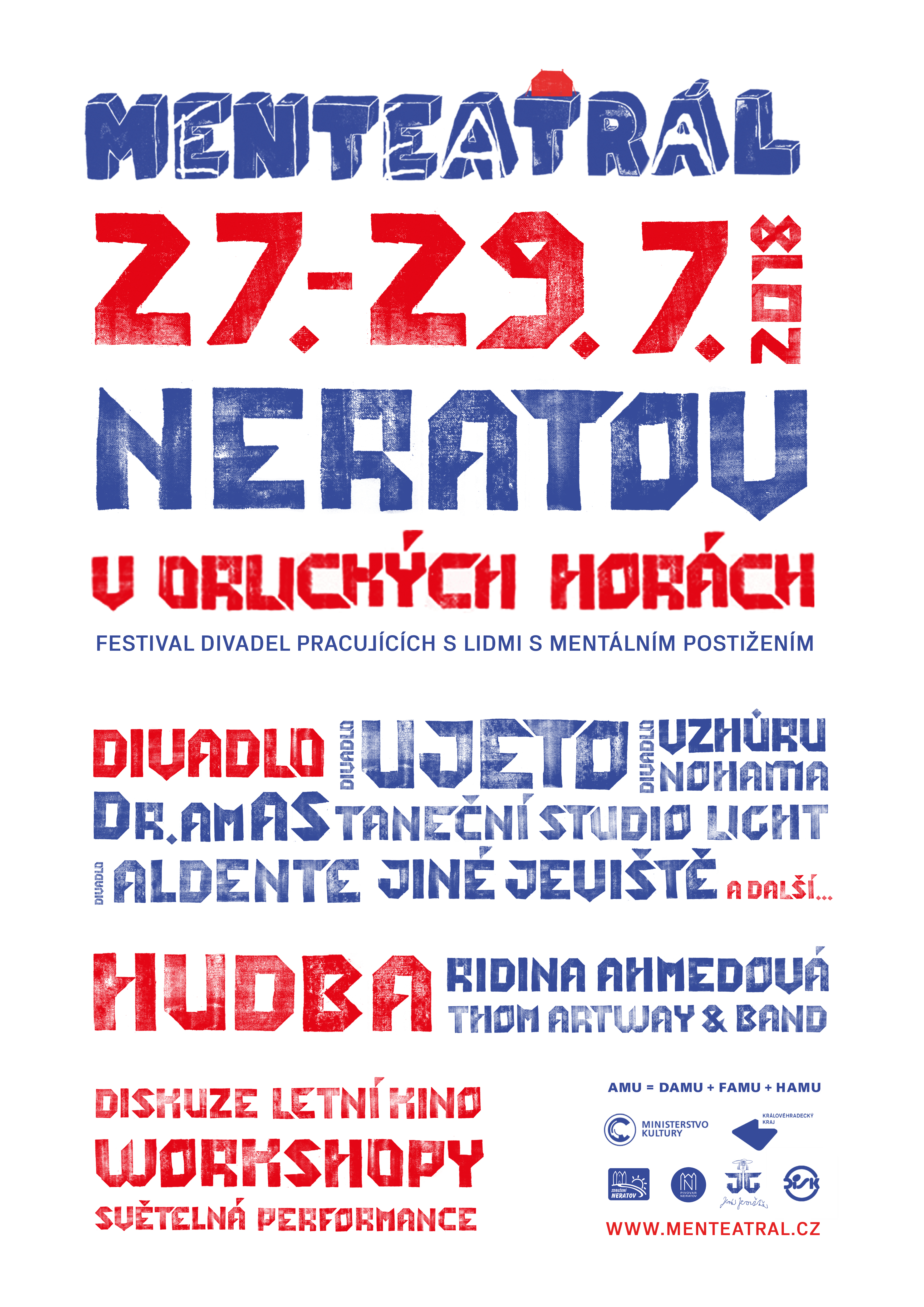 Menteatrálovský plakát na rok 2018